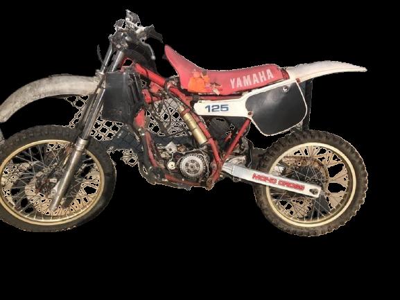 Yamaha YZ 125 1983 removebg preview